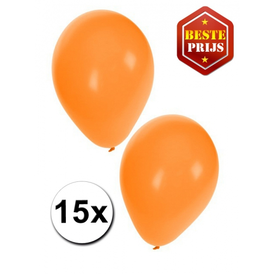 15 Oranje decoratie ballonnen