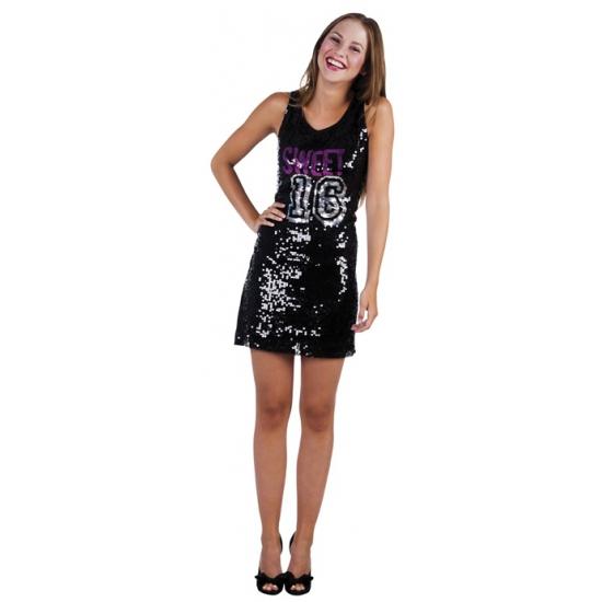 16 jaar verjaardags jurkje zwart