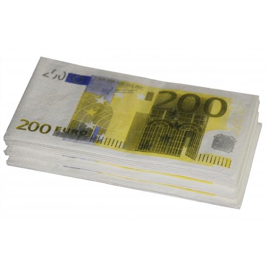 200 euro biljet servetten 10 stuks