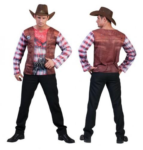 3D Western shirt voor heren