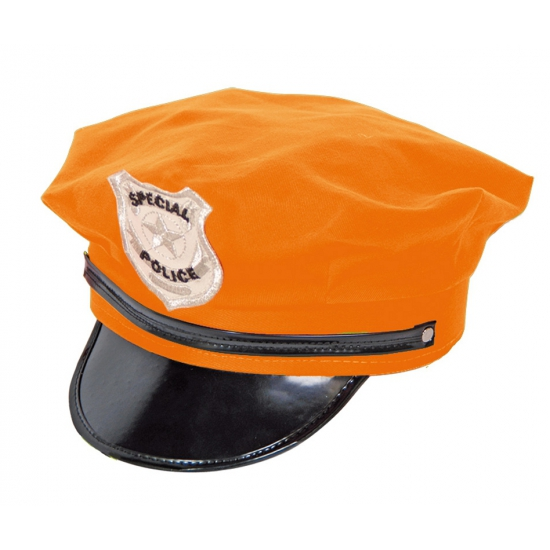 Agent hoeden in oranje kleur