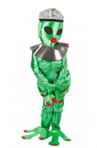 Alien kostuum groen dames