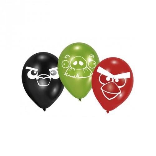 Angry Birds app ballonnen 6 stuks