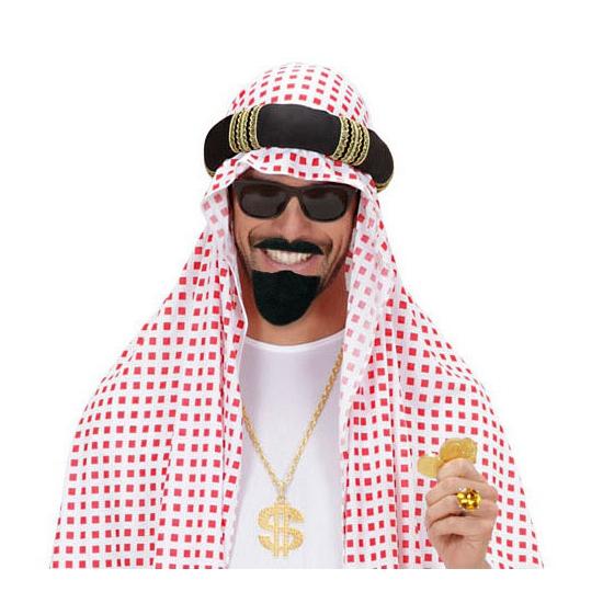 Arabische baard en snor