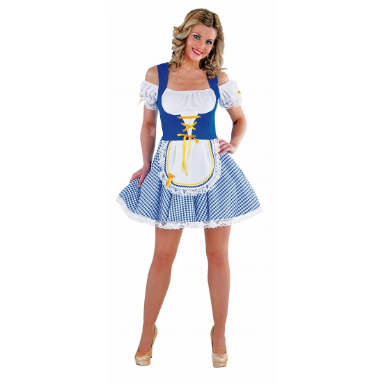 Bayern verkleedkleding blauw met wit