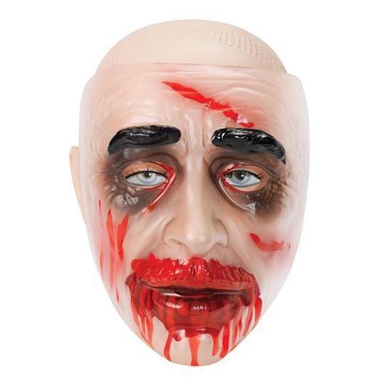 Bebloede zombie masker plastic