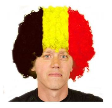 Belgische afro pruik