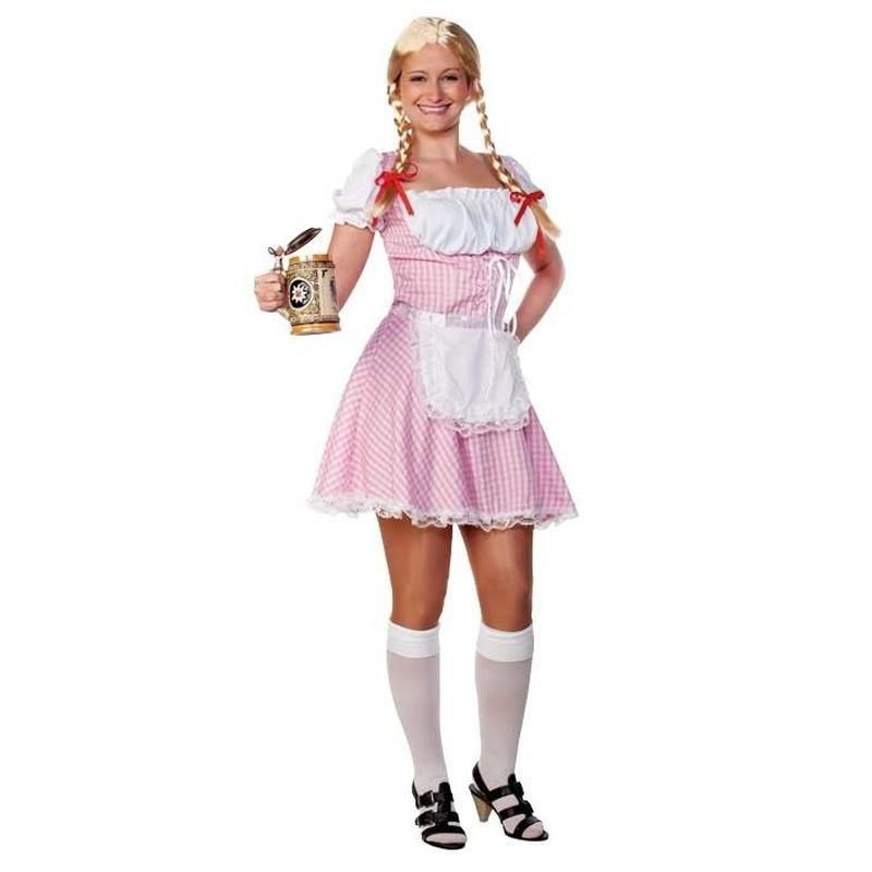Bierfeest dames jurkje lichtroze