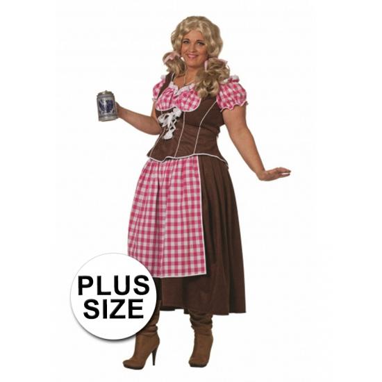 Big size bruine Tiroler jurk