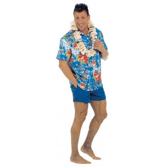 Blauw Hawaii overhemd voor heren