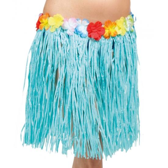 Blauw Hawaii rokje 45 cm