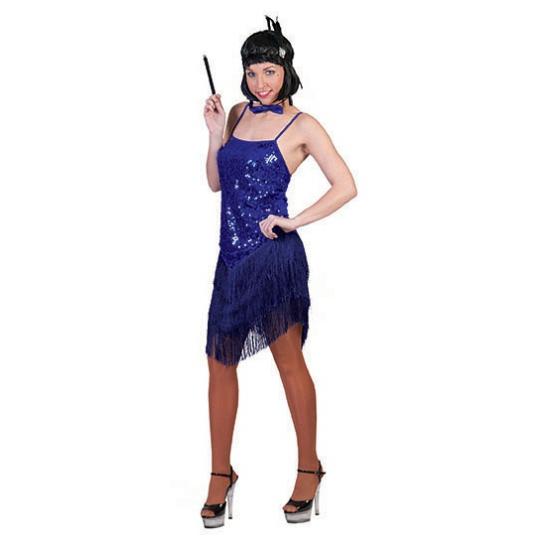 Blauw jaren 20 jurkje voor dames