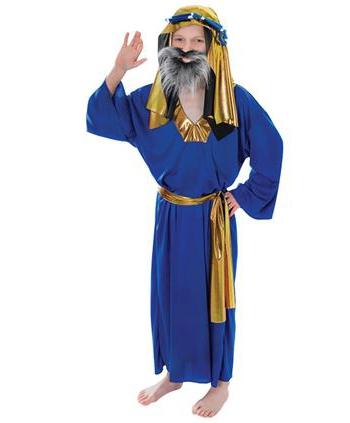 Blauw kerst kostuum Drie Wijzen