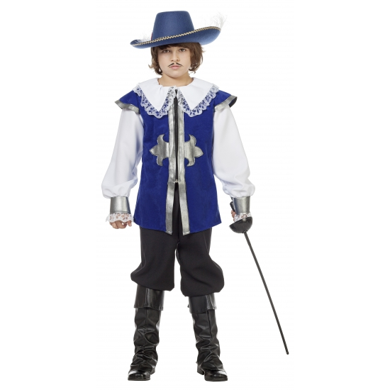 Blauw musketier pak voor kinderen