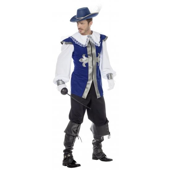 Blauw musketiers kostuums voor heren