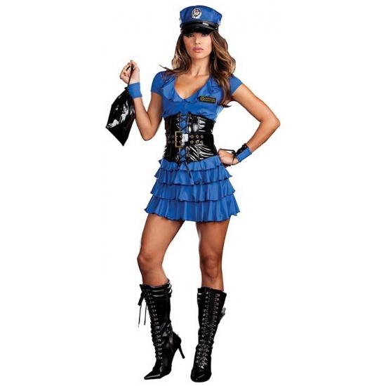 Blauw politie jurkje met accessoires