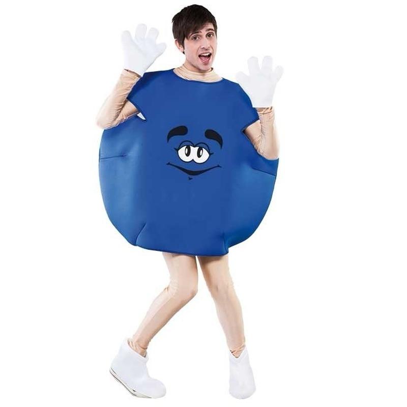 Blauw snoep verkleedkleding