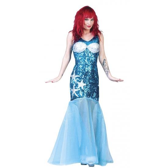 Blauw zeemeermin pak dames