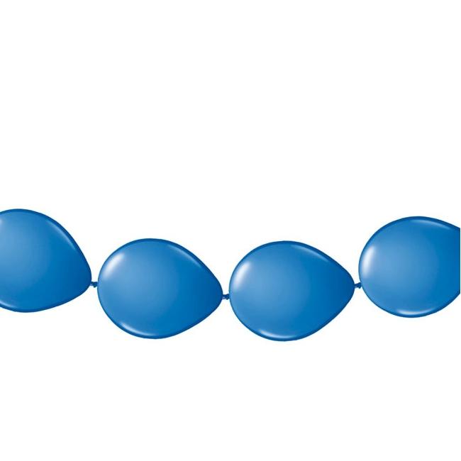 Blauwe ballonnen slinger 3 meter