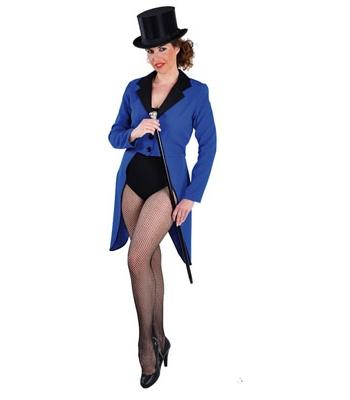 Blauwe circus slipjas voor dames