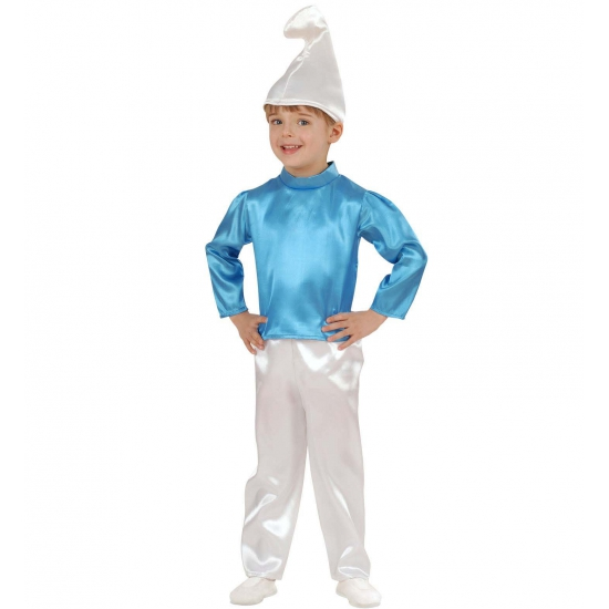 Blauwe dwerg kostuum kinderen
