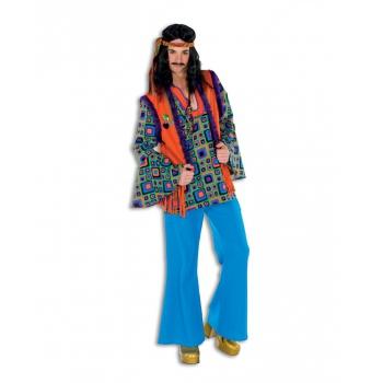Blauwe hippie broek voor heren