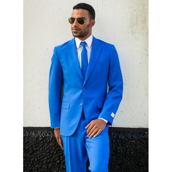 Blauwe maatpak voor heren