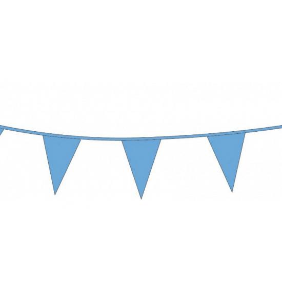 Blauwe slinger met vlaggetjes