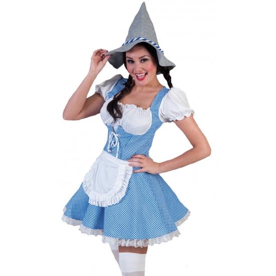 Blauwe tiroler jurk voor vrouwen