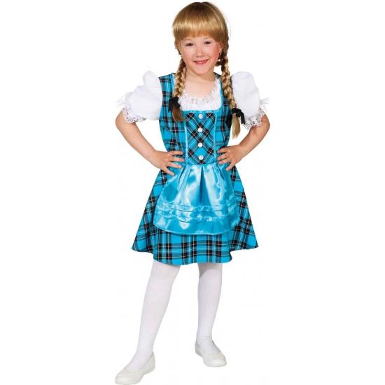 Blauwe Tirolerjurk voor meisjes