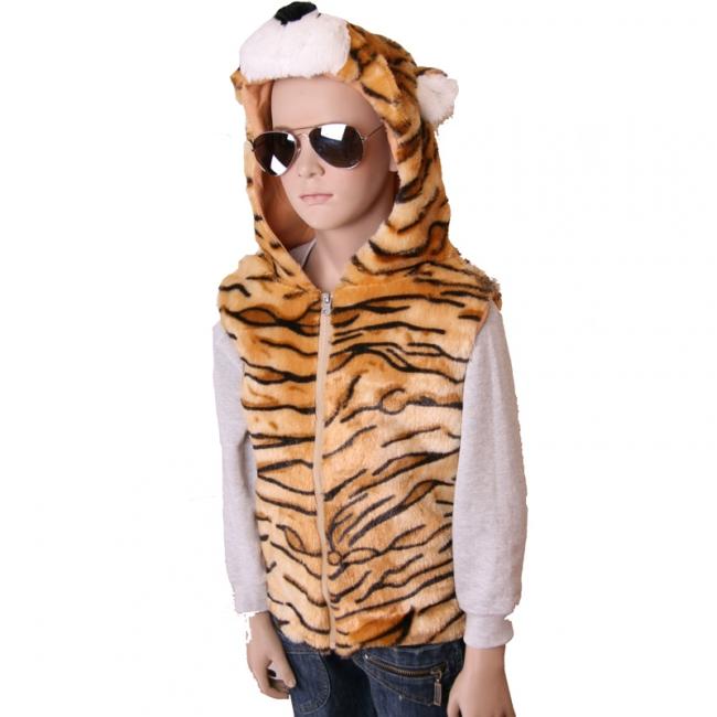 Bodywarmer tijgertje voor kids