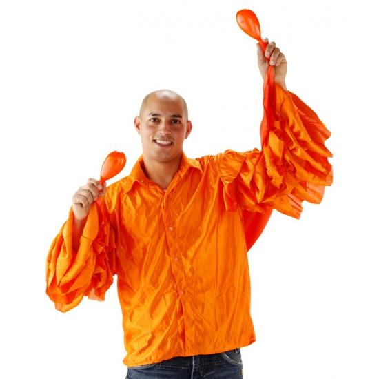 Braziliaans overhemd oranje