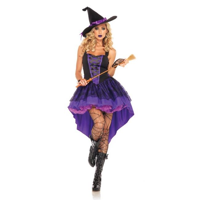 Broomstick babe kostuum paars