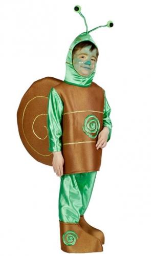 Bruin en groen slak pakje voor kids