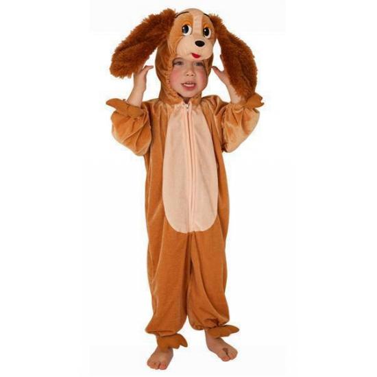 Bruine hond outfit voor kinderen