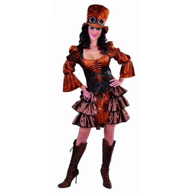 Bruine jurk in steampunk genre