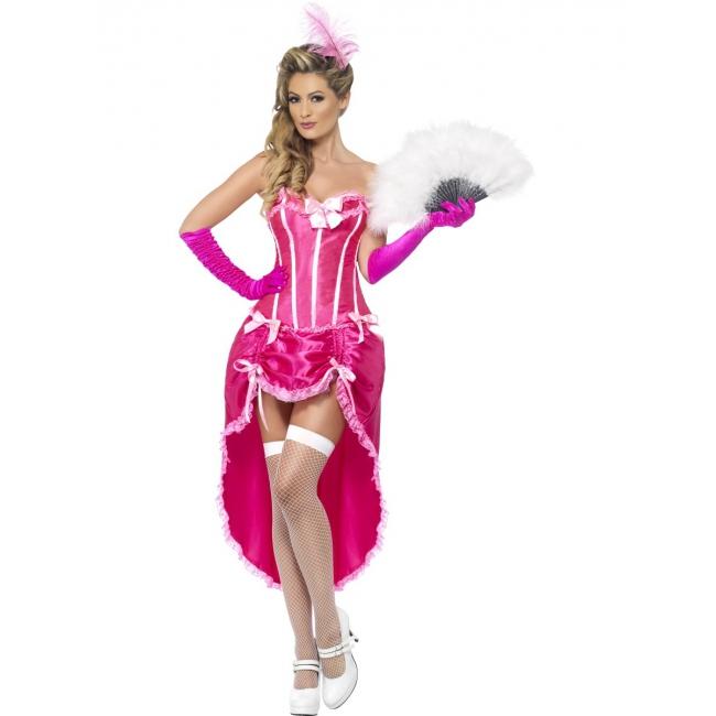 Burlesque thema jurk roze
