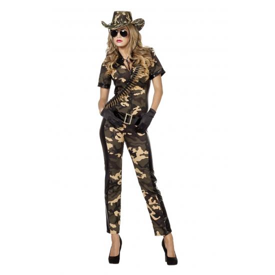 Camouflage catsuit met riem