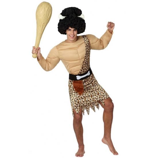 Carnaval gespierde holbewoner kostuum voor heren