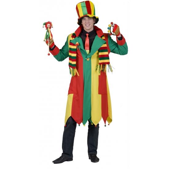 Carnaval jas geel rood en groen