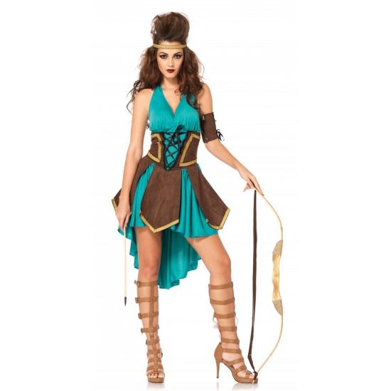 Carnaval krijger kostuum voor dames