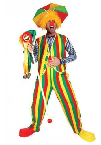 Carnaval vestje geel rood en groen
