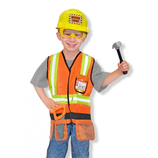 Carnavals kostuum bouwvakker voor kids