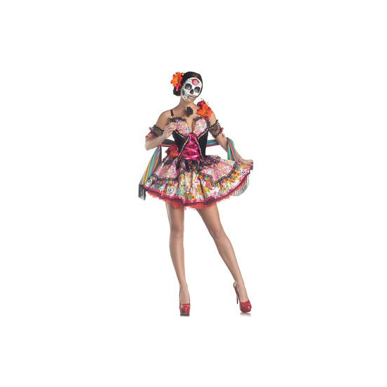 Carnavalskleding Day of the Dead senorita jurk