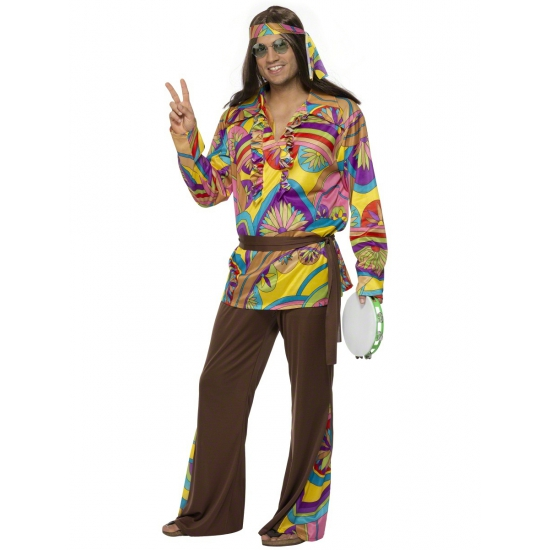 Carnavalskleding hippie kostuum