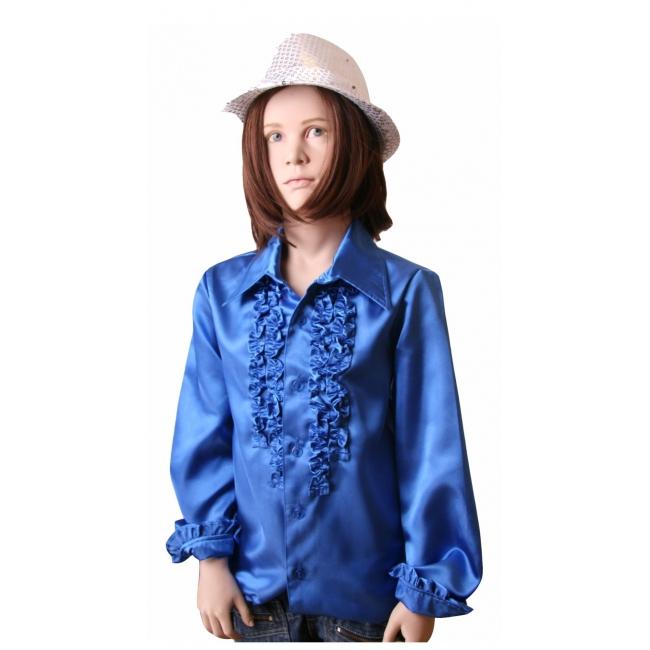 Carnavalskleding rouches kobaltblauw voor kinderen