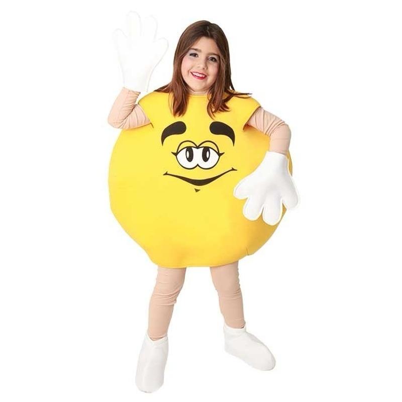 Carnavalskleding snoep geel