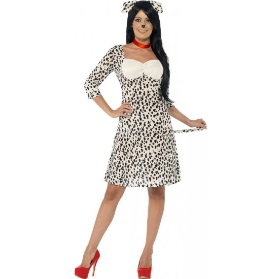 Carnavalskostuum dalmatier voor dames