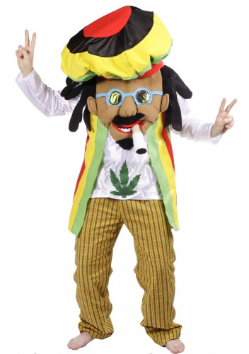 Cartoon rasta met joint kostuum
