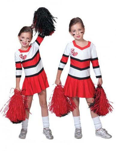 Cheerleader jurkjes rood met wit